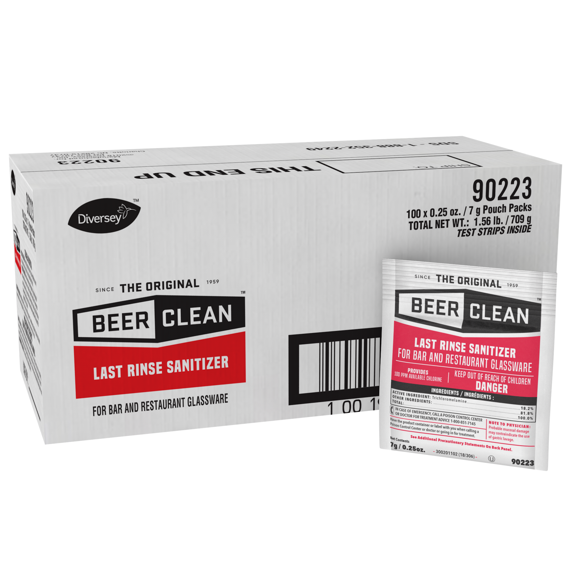 Beer Clean Last Rinse Sanitizer .25 oz. powder packet 90223