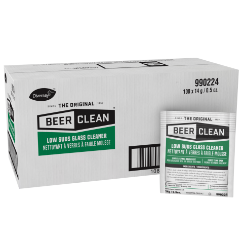 Diversey Beer Clean Low Suds Glass Cleaner 990224 .5 oz.