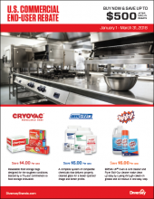 Q1 2018 US Commercial End-User Rebate Flyer - Foodservice